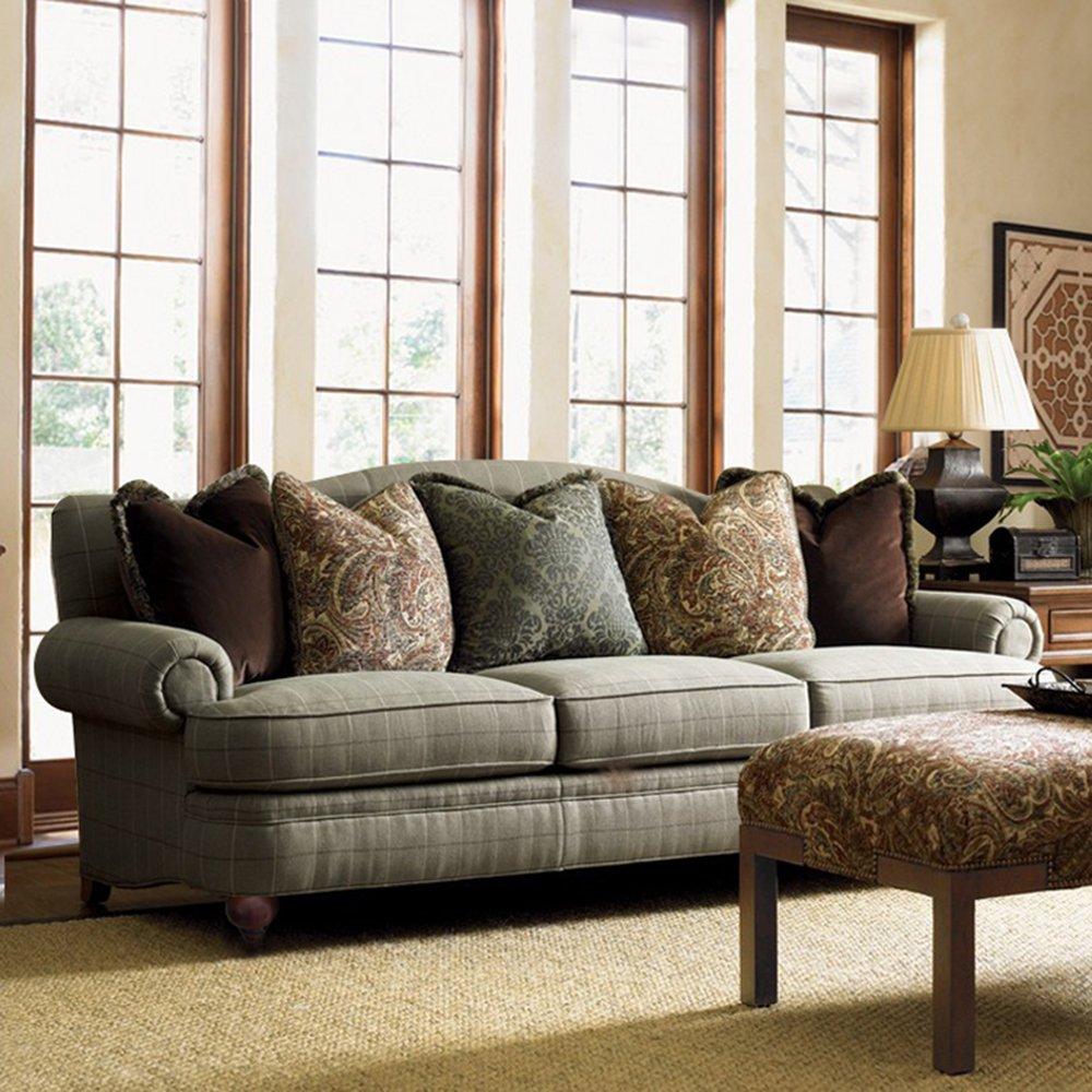 美式沙发 地中海乡村风格家具单/双/三人位欧式客厅