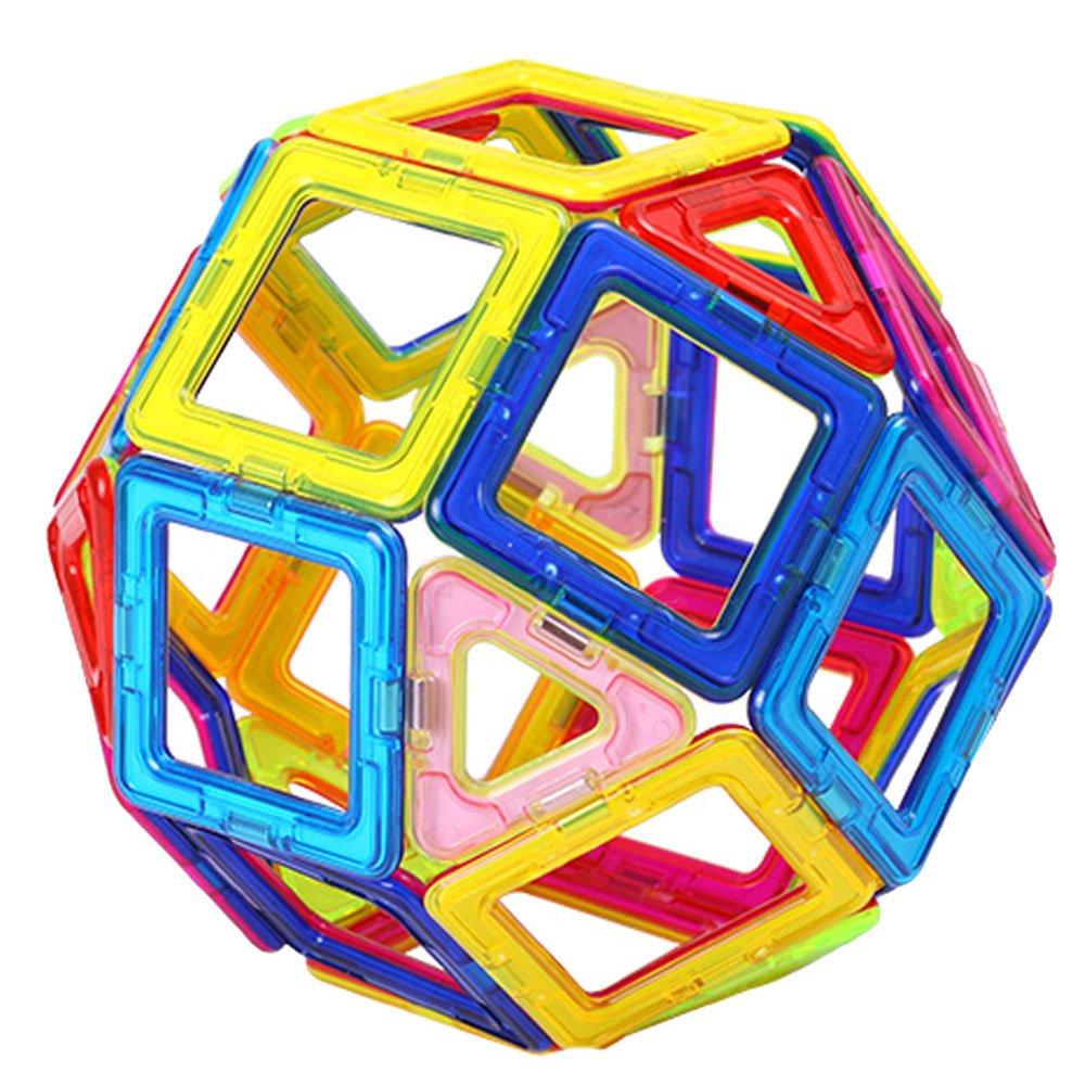 活石 磁力棒益智积木玩具 磁力片磁铁玩具拼图立体积木拼插玩具 20片