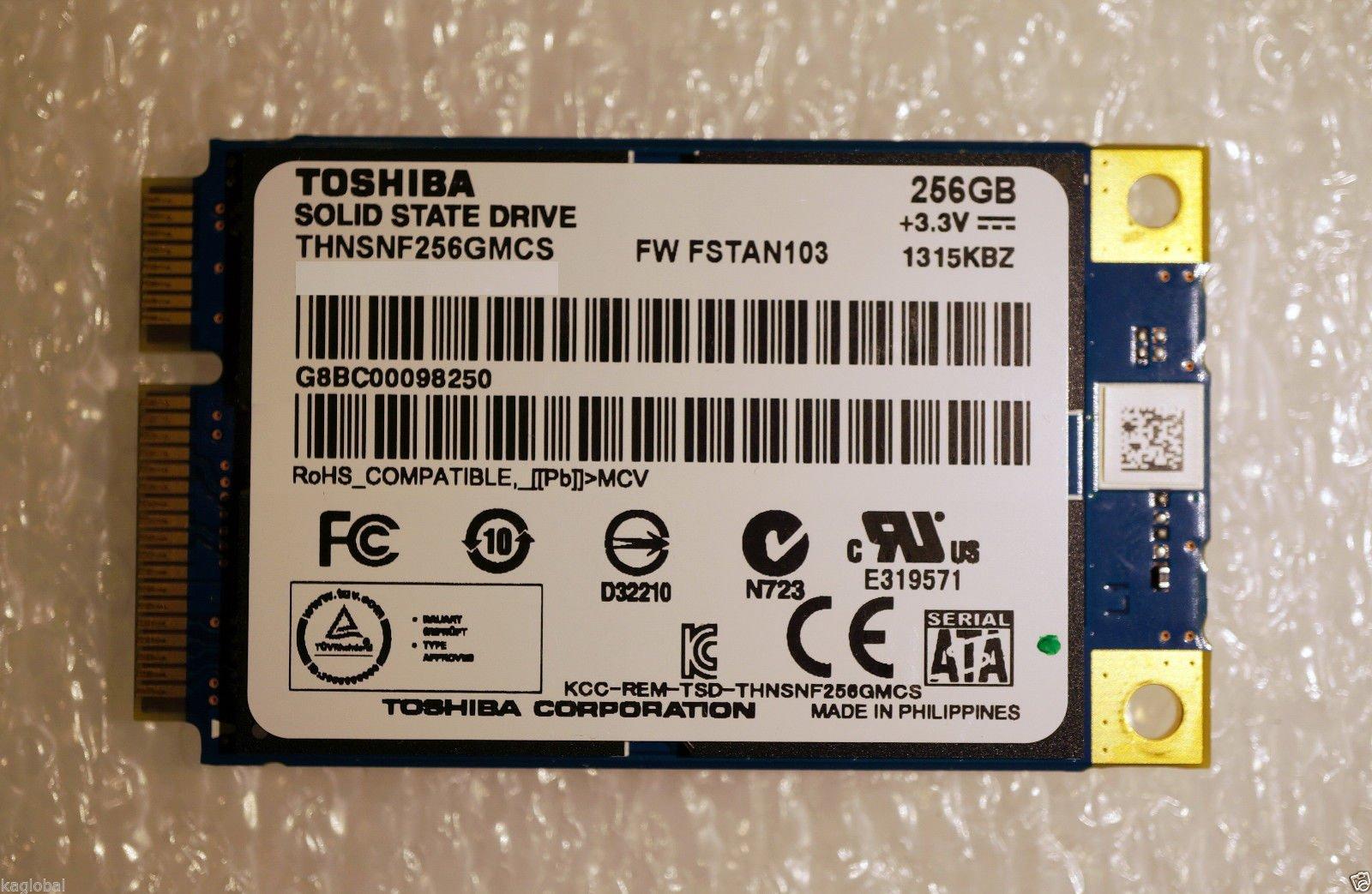 东芝Toshiba msata256G SSD 固态硬盘 三年质