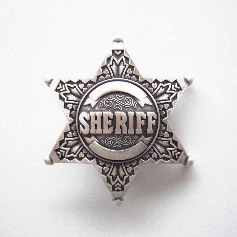jeansfriend 牛仔好搭档 镀银皮带扣 美国警徽系列《警长》 男士 女士