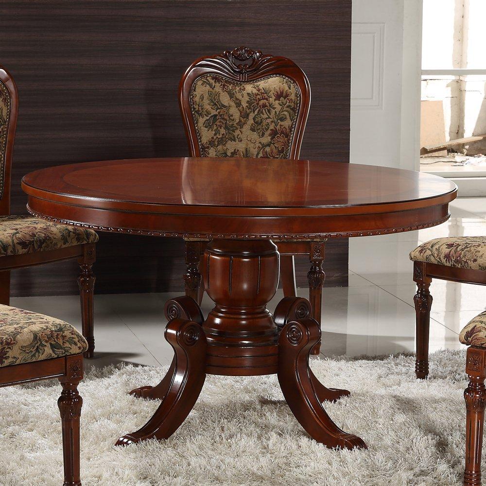 bmj 邦美居 美式圆餐桌椅组合双层实木餐台橡木1.5/1.8m圆桌特价 1.