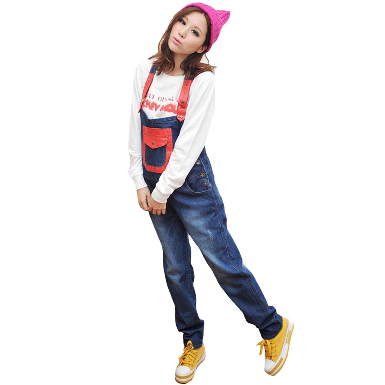 韩版孕妇牛仔裤 背带裤