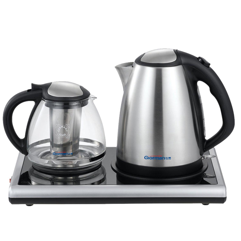 茶具套装 电水壶 电热水壶 泡茶机 煮茶器 银灰色 (银灰色)
