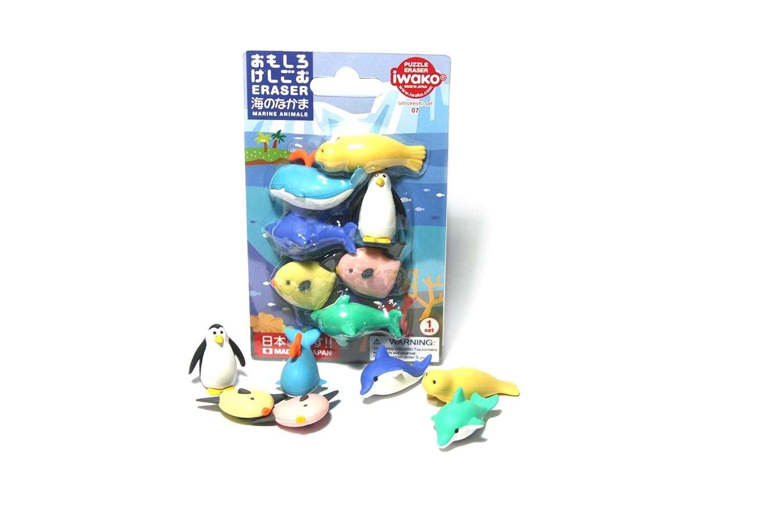 iwako 岩泽 纸卡套装海洋动物橡皮 er-bri010