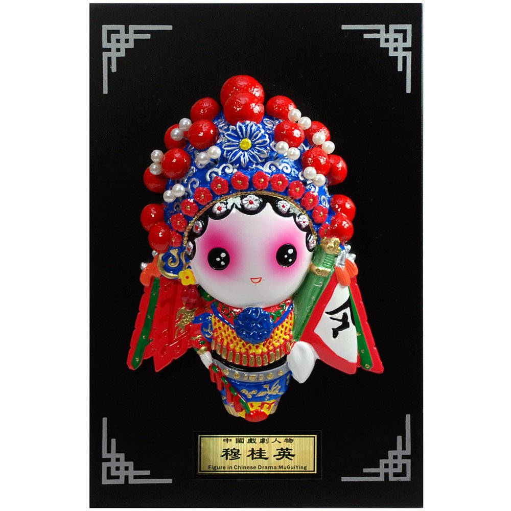 稻禾q版卡通京剧人物装饰壁挂摆件 中国特色商务外事出国送外国人礼品