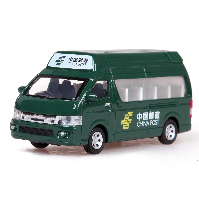 彩珀积木车v积木车星星面包车立体回力合金汽车模型玩具车(合金3D声光邮政校车图片