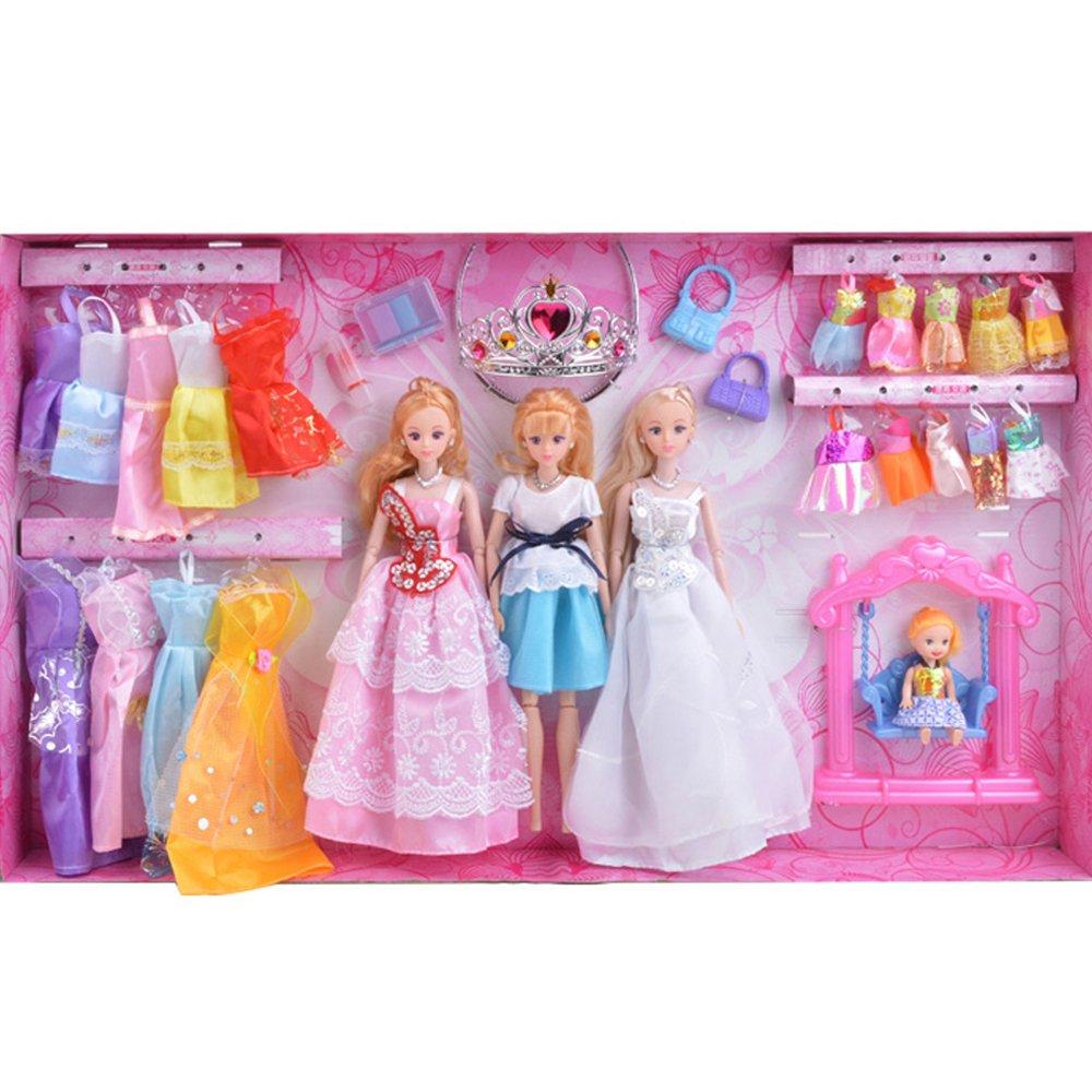 凯迪宝 芭比娃娃玩具 女孩玩具 换装芭比礼品盒套装 6
