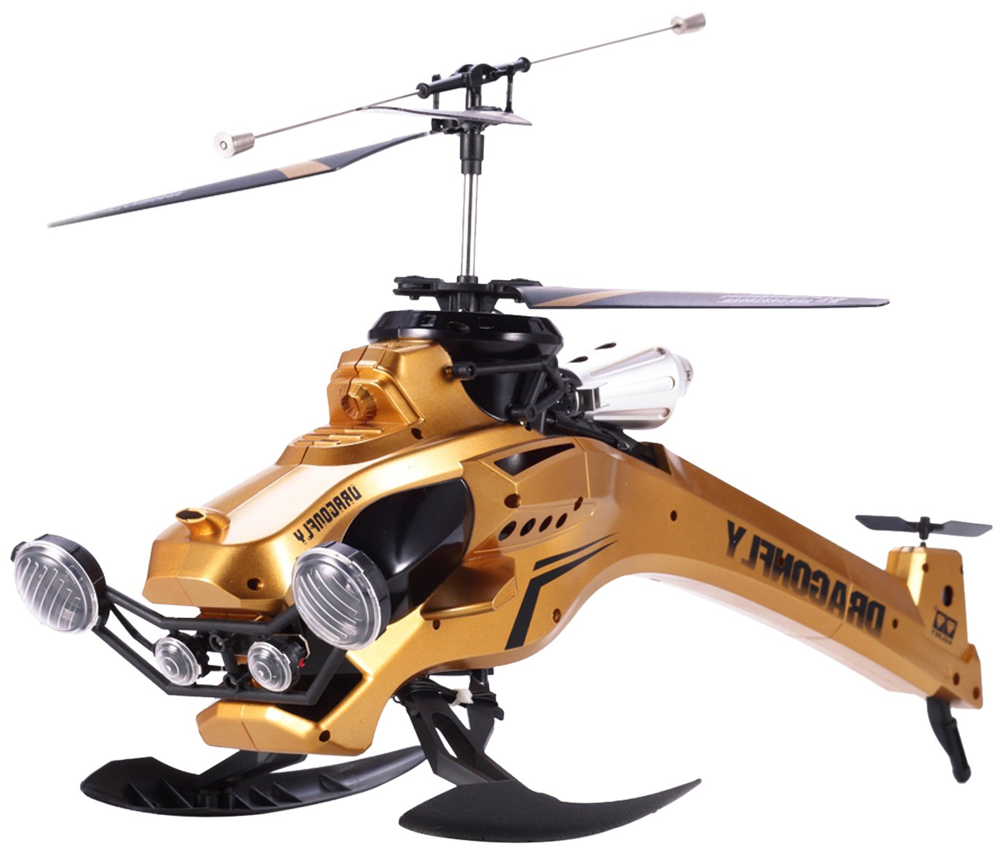 42cm三通轰天暴龙直升机(金色)85