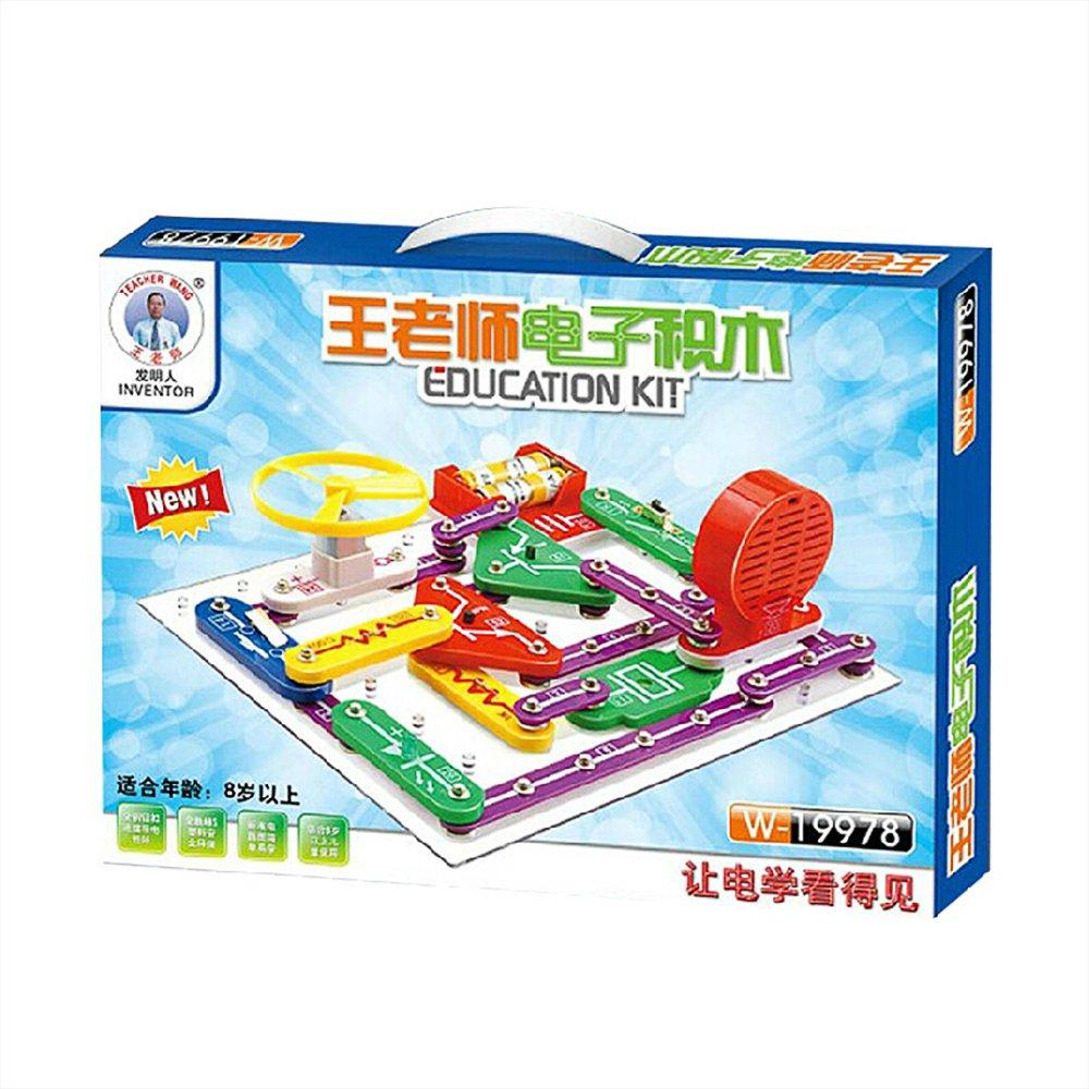 王老师电子积木电子百拼儿童益智电路玩具一代w19978拼物理教学教材