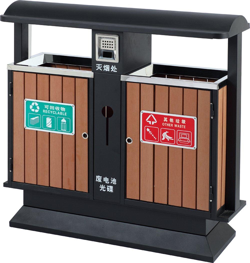 分类环保垃圾桶 塑木垃圾桶