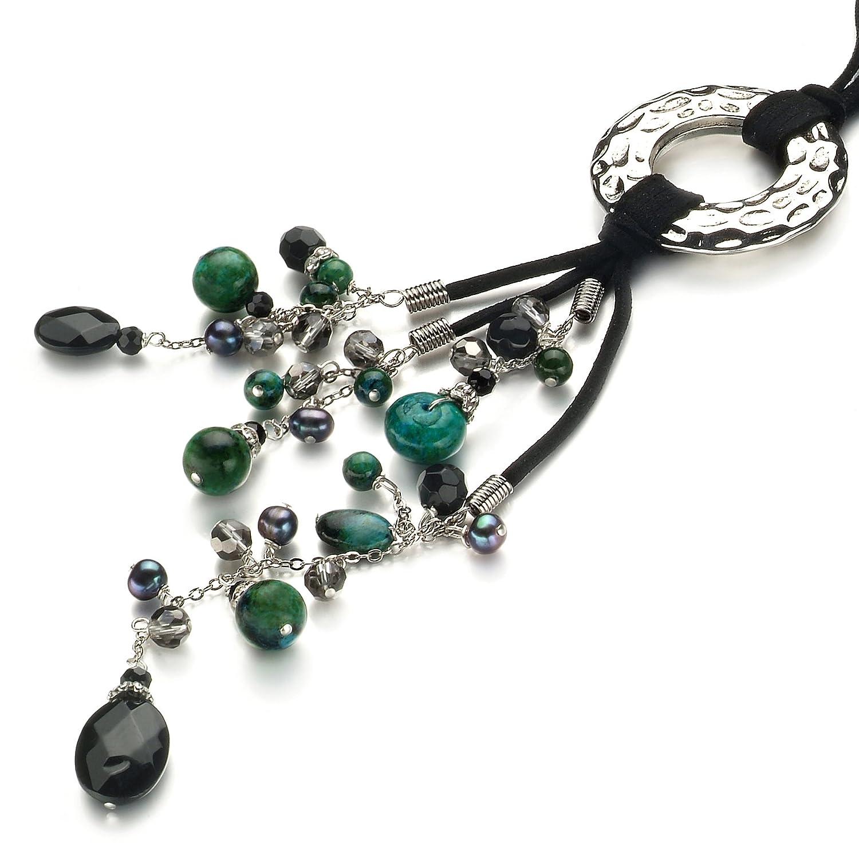 缤纷美饰-珍珠凤凰石水晶项链-雀跃-珠宝首饰-亚马逊