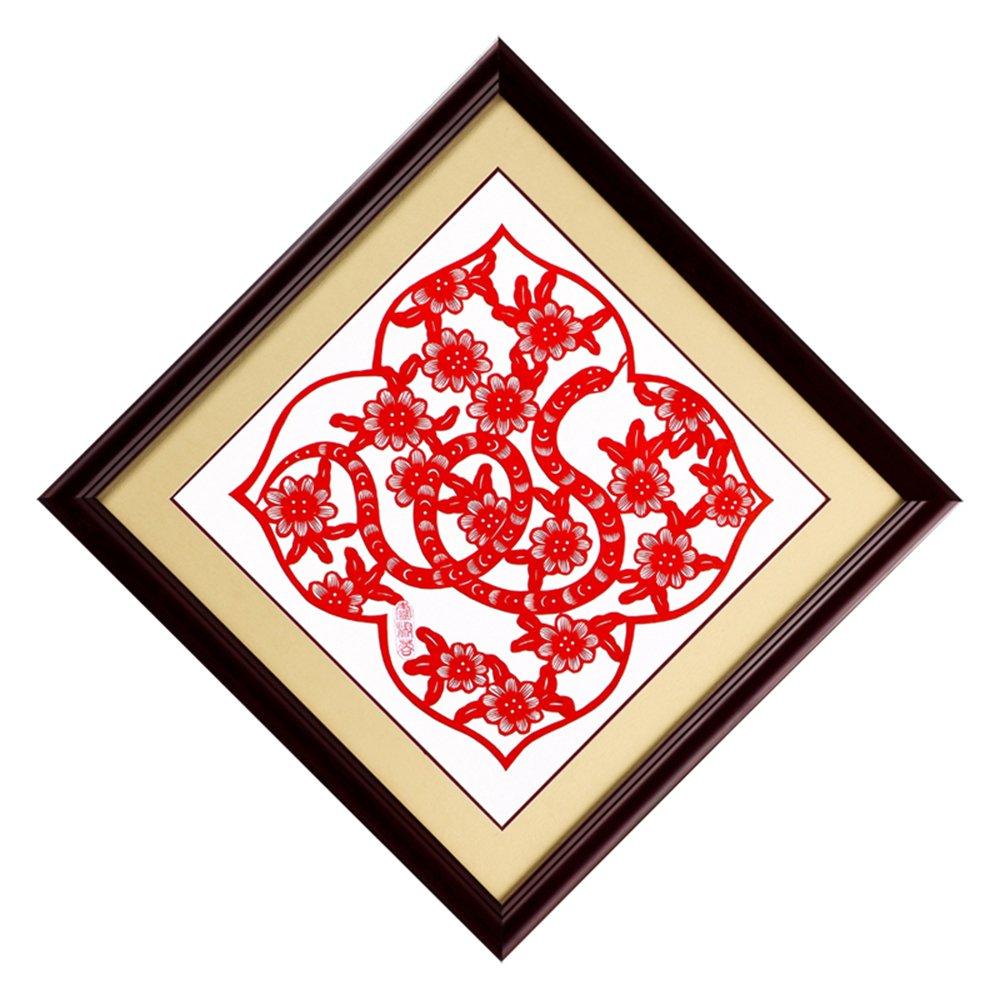 中国风 卢淑蓉手工剪纸出国礼品
