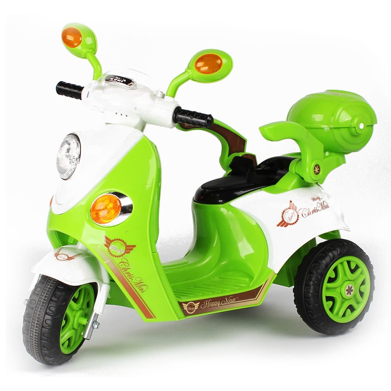 sanle 三乐 新款大尺寸儿童电动车三轮车摩托车宝宝玩具车充电宽轮