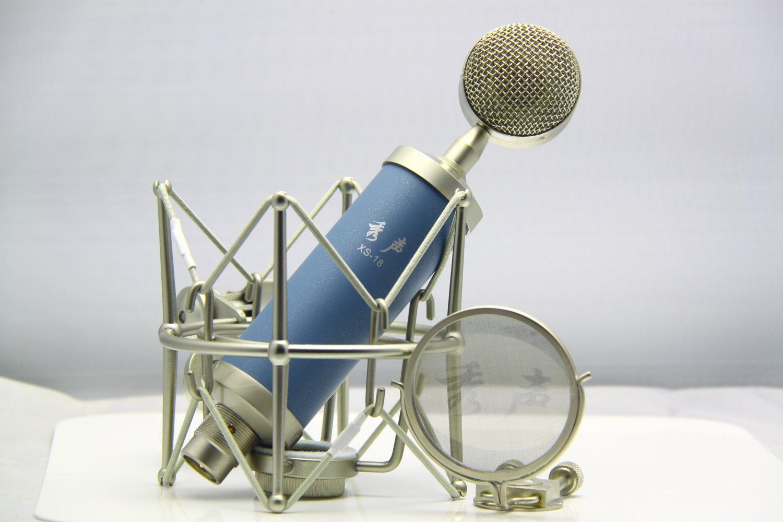 秀声xs-18专业大振膜电脑录音话筒 网络k歌电容麦 蓝鸟电容麦克风