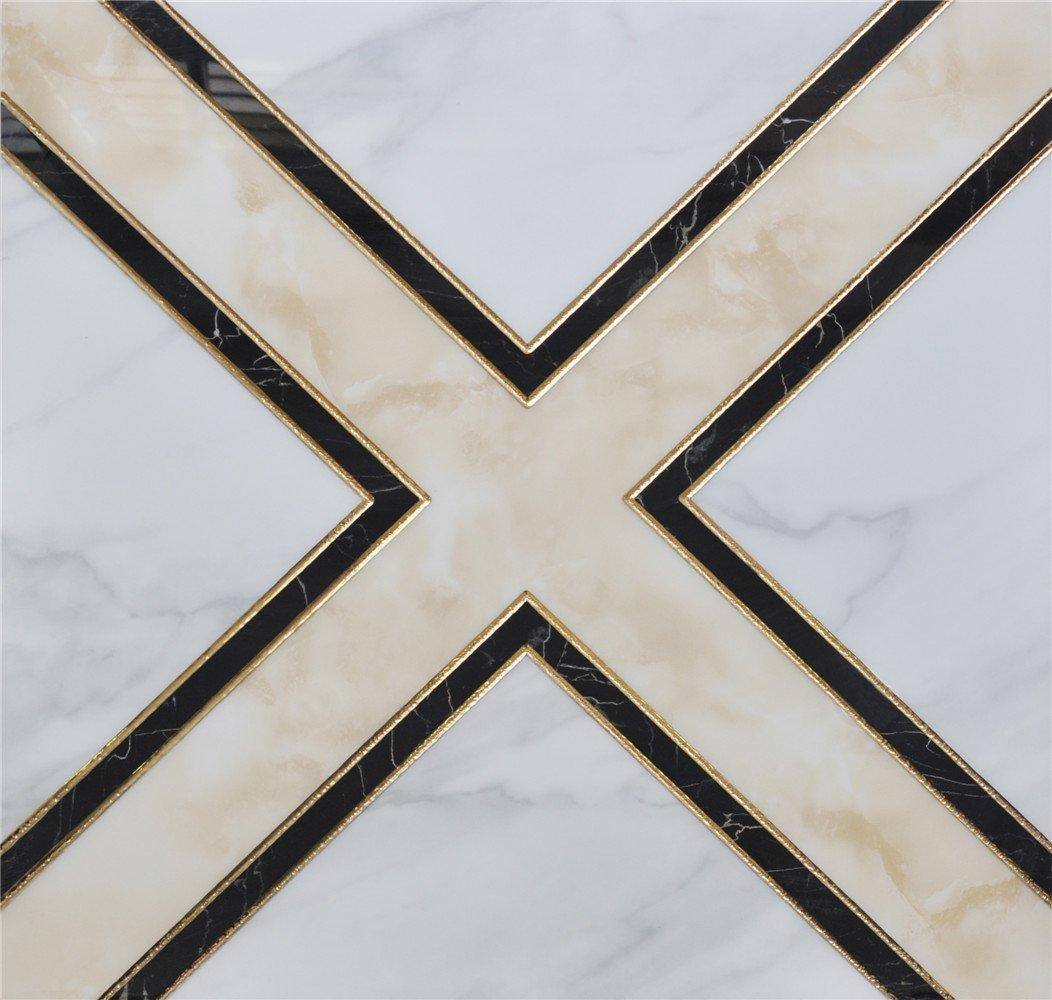zhongzun 中尊 家装建材 瓷砖 地砖 欧式瓷砖 拼图拼花 墙砖 镀金抛晶图片