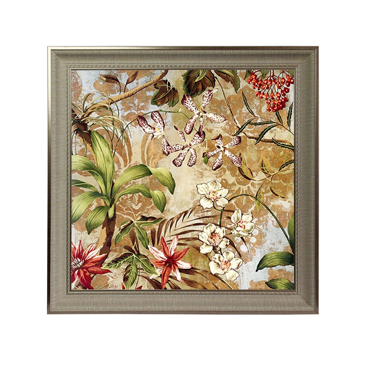 dhhd客厅卧室欧式清新花卉壁画挂画 玄关走廊两联画 欧美贵族风格装饰
