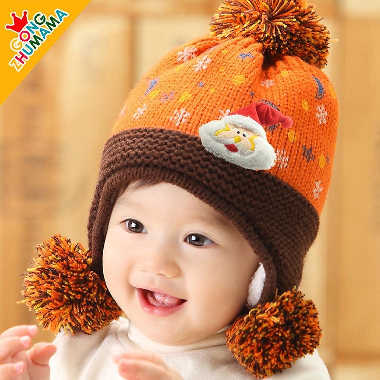 公主妈妈秋冬款儿童帽子圣诞老人加绒护耳帽3748