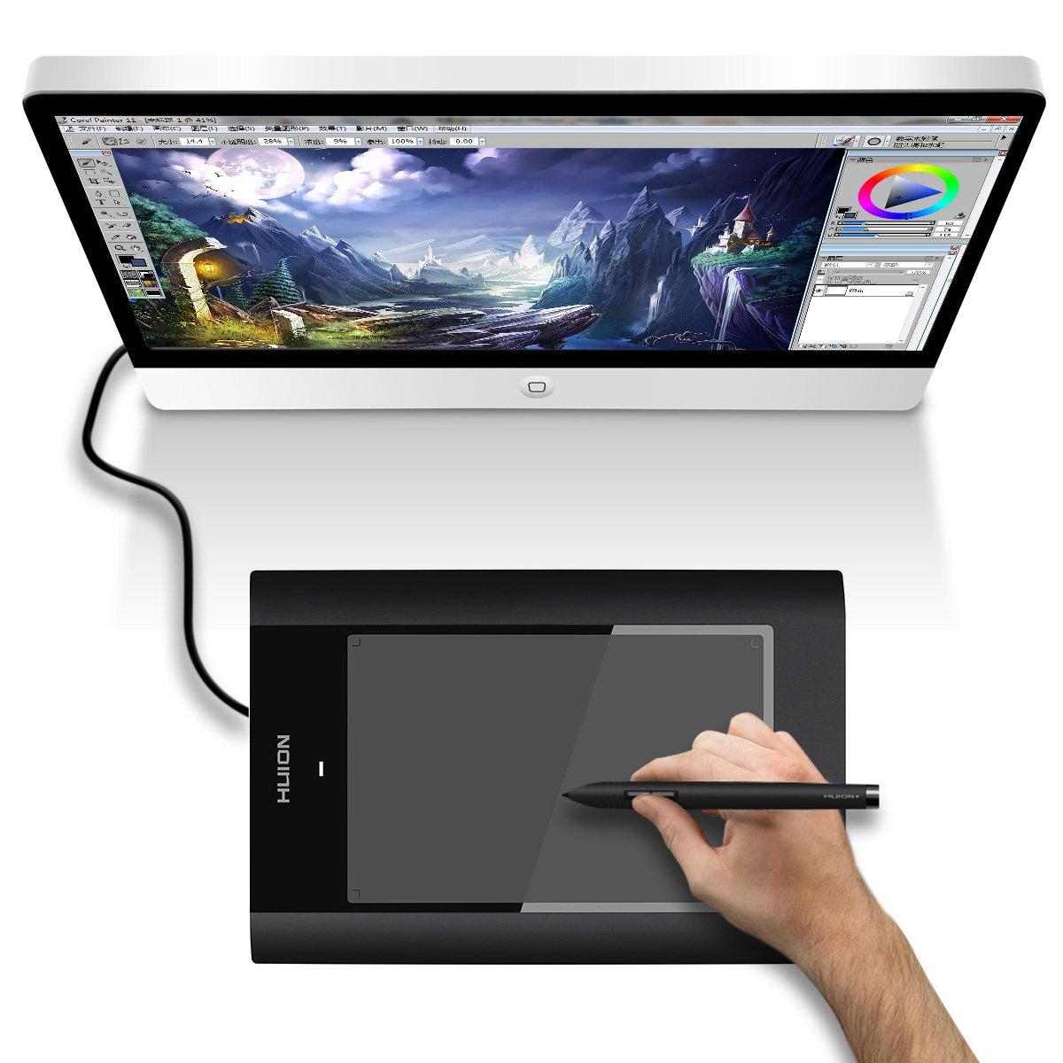 绘王 k68 电脑绘画板 漫画鼠绘板 5080分辨率 动漫设计手绘板 黑 送笔