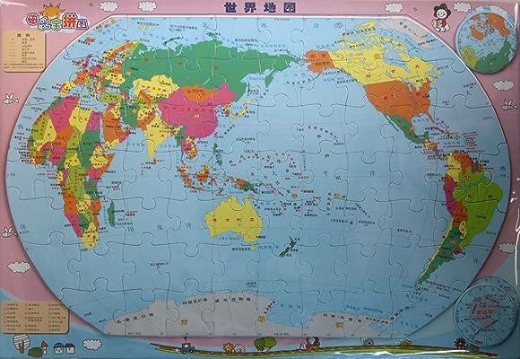 磁乐宝拼图:世界地图:亚马逊:图书