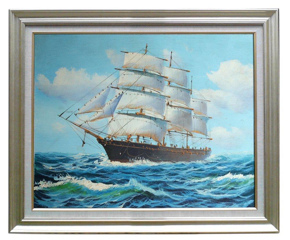 eapey 一品廊 海景油画 风景油画 纯手绘油画 墙画 壁画《扬帆起航》