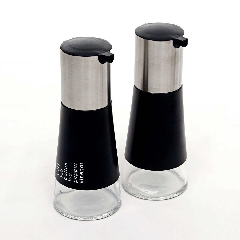 欧式锥形不锈钢玻璃油壶