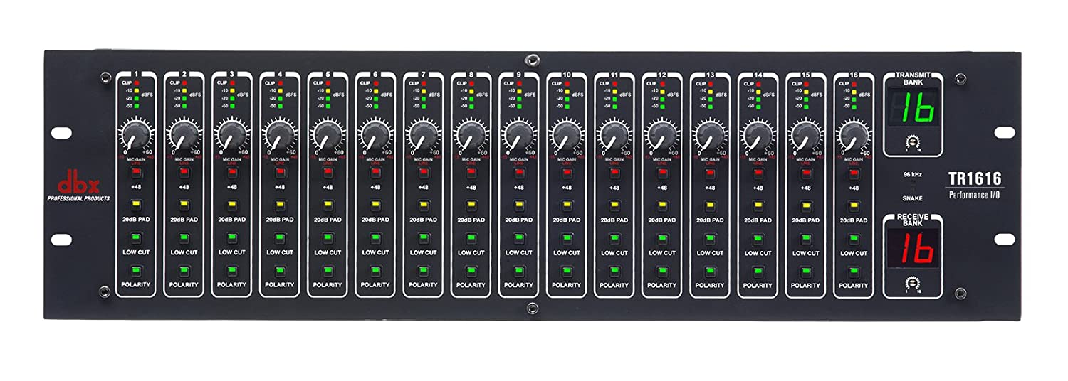 dbx tr1616 16-channel digital i/o mixer