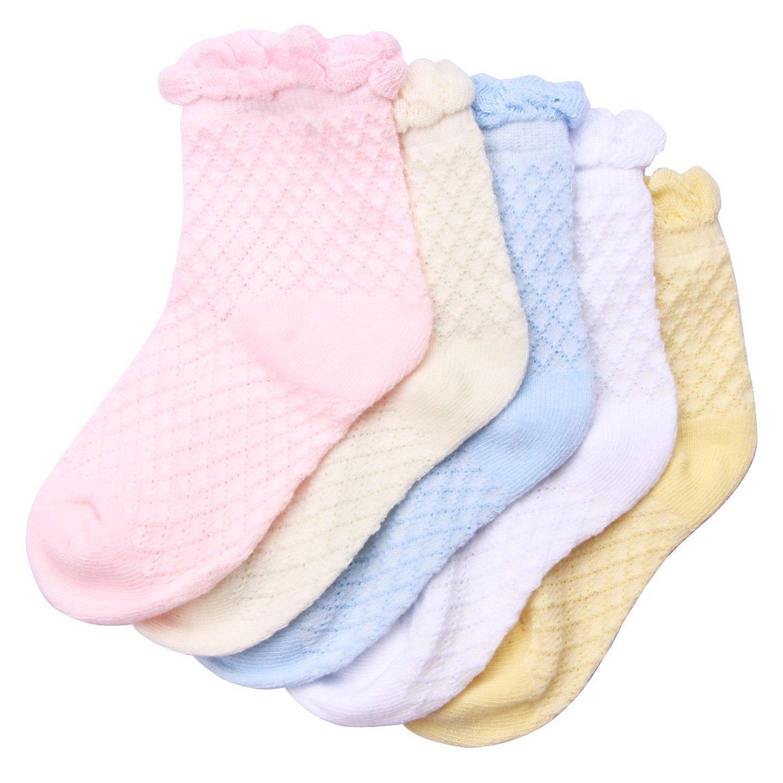 女网纯棉春夏薄袜镂空素色花边袜子女网眼透气松口袜