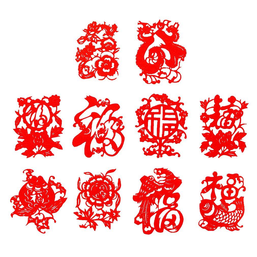 传统手工剪纸 大红宣纸