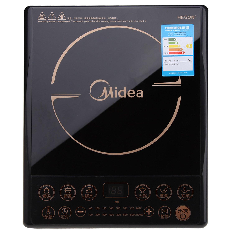 midea美的电磁炉rk2101(八大烹饪功能,单键单控,4d防水,旋风式防堵