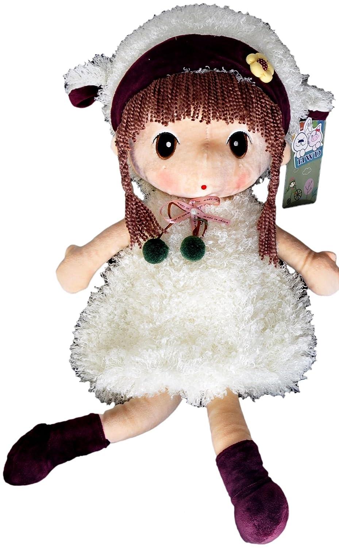 hwd 豪伟达 正版可爱卡通冬装动物菲儿公主毛绒娃娃公仔儿童玩具生日