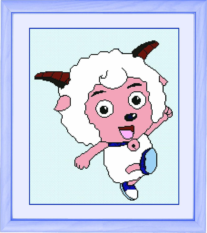 多美绣 十字绣 卡通 幸福 可爱 喜羊羊与灰太狼-喜羊羊 11ct