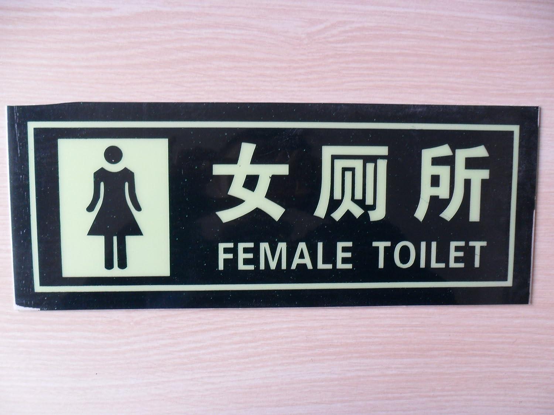 女厕所标��b&��#_子途 通用夜光提示牌 女厕所所标识牌 14*36cm 带背胶