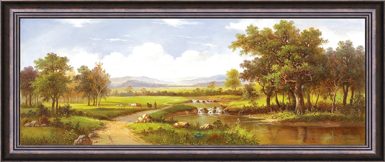 风景手绘油画现代装饰画客厅卧室 大堂 玄关 书房 办公室挂画 背景墙