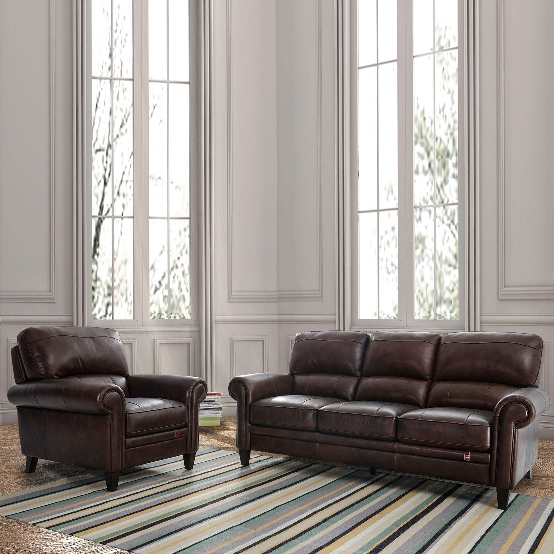 kuka 顾家家居 真皮沙发头层牛皮简约客厅美式沙发组合kuka.
