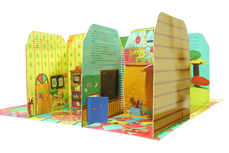 dollhouse玩具屋3d立体书创意diy拼搭娃娃变成入园a玩具声音怎么缓解手工音图片