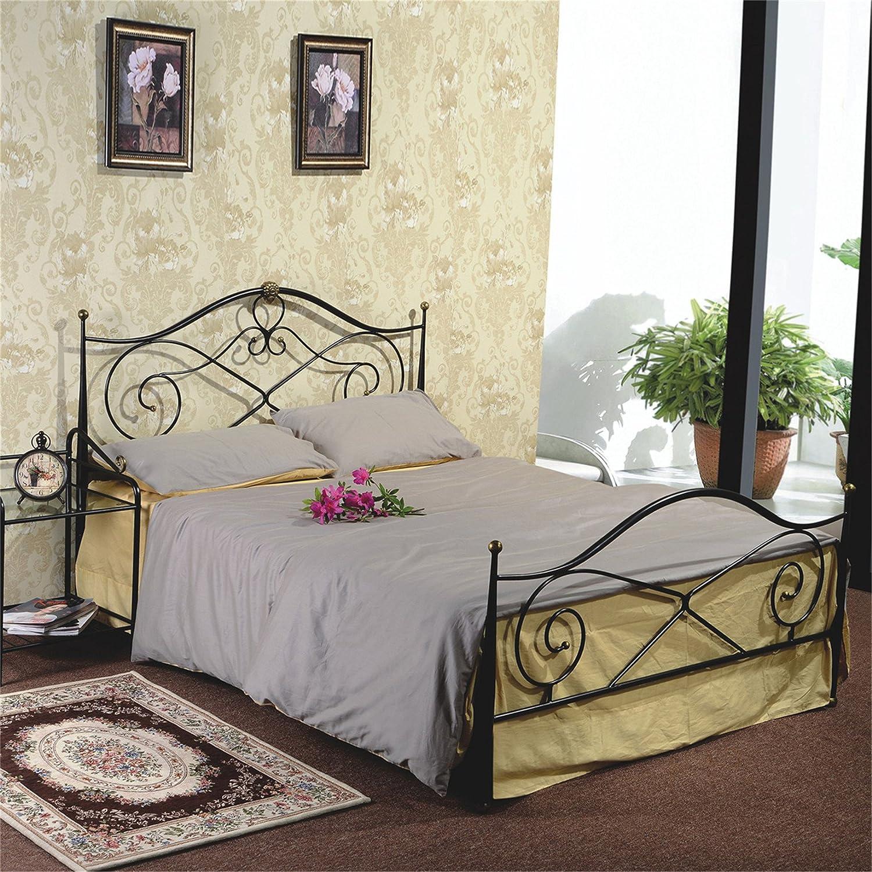 斯蒂薇安 钢艺床型号g819黑色铁艺床 宜家 欧式铁床 美式 乡村 复古