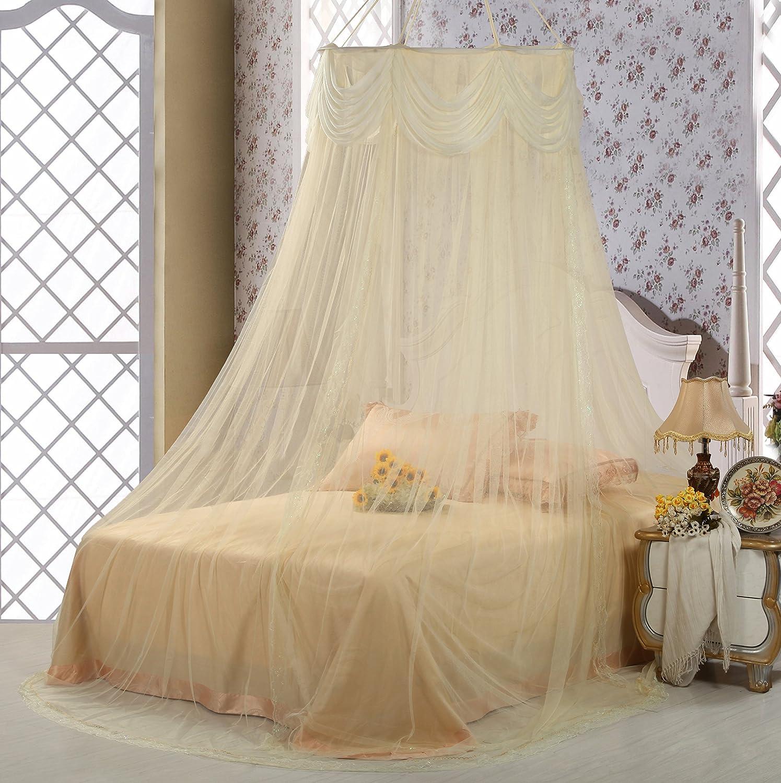 公主蚊帐 吊顶蕾丝花边