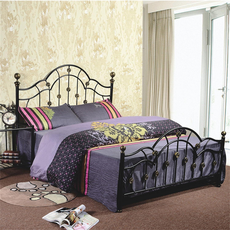 钢艺床型号g925黑色铁艺床 宜家 欧式铁床 美式 乡村 复古 韩式 公主